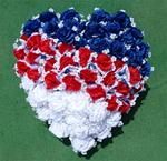 05. Silk Floral Patriotic Heart