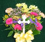 Fresh Bouquet with Cross