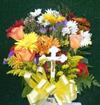 20c. Fresh Bouquet With Cross