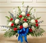 Fresh Basket of Patriotic Flowers