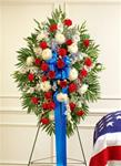 Standing Spray in Patriotic Colors