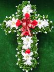 Christmas Poinsettia Cross