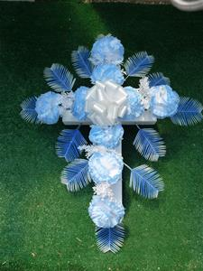 06. Silk Floral Cross 18 inch