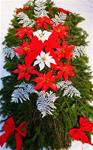 c. Fresh Red & White Deluxe Poinsettia Blanket