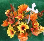 20. Silk Bouquet With Cross