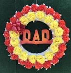 30.  Silk Dad Wreath in Fall Colors