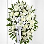 Standing Spray of All White Flowers