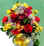 30. Fresh Fall Mixed Flower Bouquet