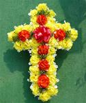 20. Silk Cross in Fall Colors 24 inch